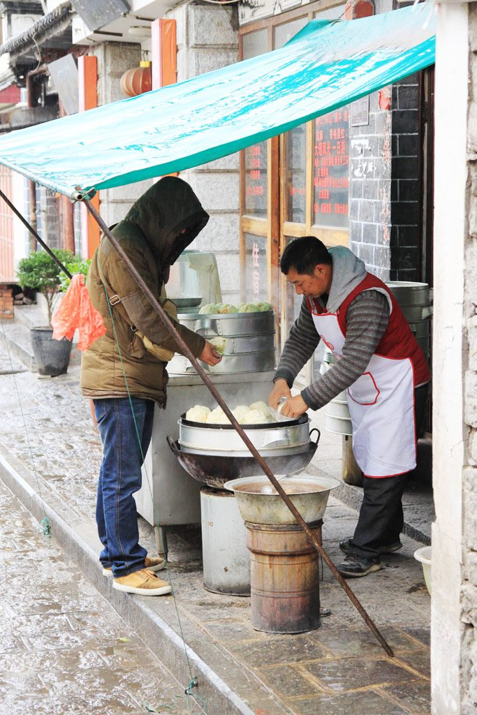 Person buying street food