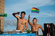 couple at taiwan pride parade