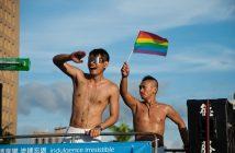 couple at taiwan pride parade
