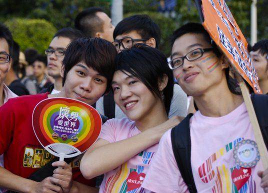 Der Regenbogen über China