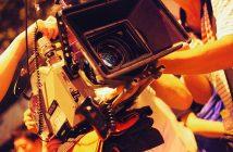film camera in action