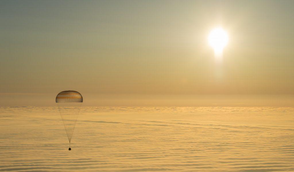 NASA Space Capsule over Kazakhstan
